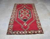 Free Shipping // Handmade Rug,Turkish Rug 76.37''x40.55''Handwoven Rug,Vintage Rug