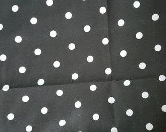 Black and White Polka Dot Print Bib