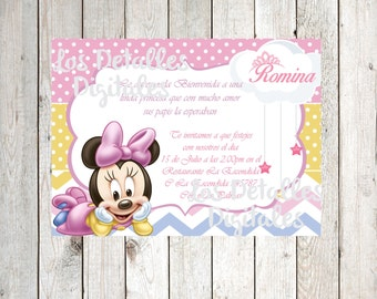 Invitacion Minnie Mouse Baby