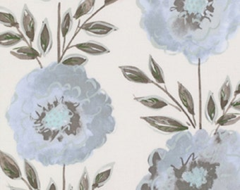 Dena Designs FreeSpirit Cotton Fabric The Painted Garden-Rose in Grey