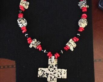 Dalmatian bead fashion necklace