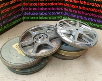 7 Inch 16mm Film Reels and Tins