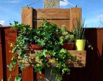 Pallet Hanging Basket / Plant Holder