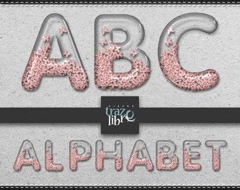 DIGITAL ALPHABET | Clip Art | Instant Download | Printable Alphabet | Digital Clipart | Scrapbook | Glass alphabet