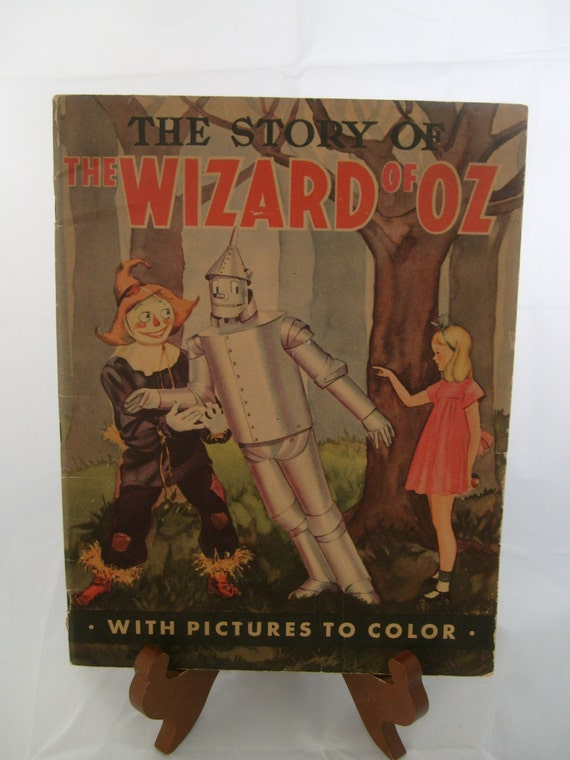Wizard of Oz Vintage Coloring Book