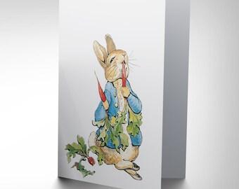 Helen Beatrix Potter Peter Rabbit Radishes Art Greetings Card CP1985