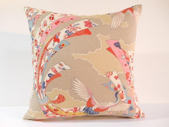 Japanese fabric pillow 115 decorative pillow 16x16 - Fabric for throw pillows ...