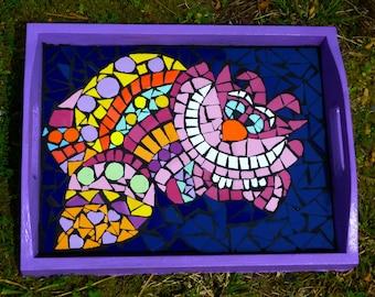 """Mosaic tray """"Cheshire cat"""""""