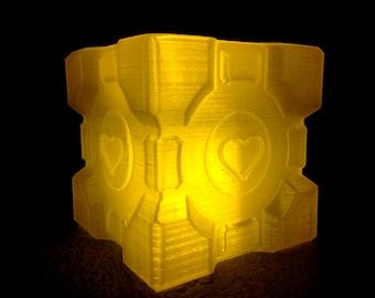 Companion Cube Lamp, PORTAL 2, 3D Printed!