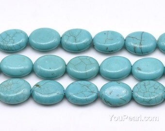 Turquoise beads, 12x16mm egg-shaped, gem stone strand, genuine stone beads, loose turquoise beads wholesale, beads supply,TQS3180
