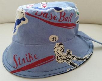 Boy's Baseball/BlueJean Reversible Bucket Hat
