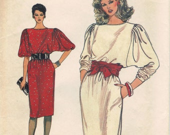 VINTAGE Very Easy Vogue 8734 Pattern - 1980s Misses' Dress