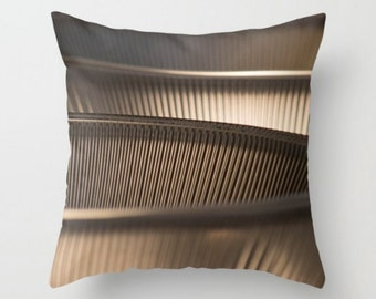 Taupe Pillow Cover ~ Modern Pillow ~ Abstract Art ~  Contemporary Throw Pillow ~ Minimalist Photography ~ Monochromatic Home Decor ~ Brown