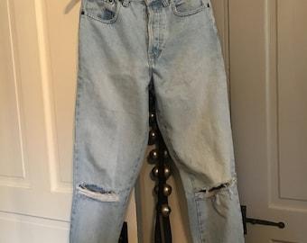 Vintage boyfriend distressed jeans