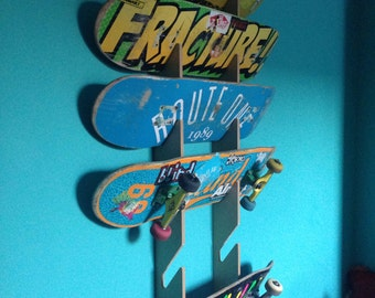 Skateboard Rack. Wall Mounted.