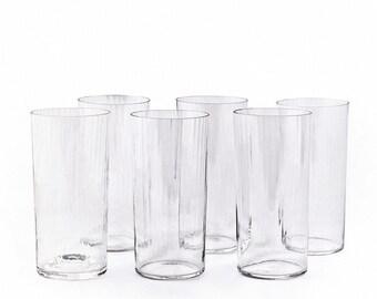 Set of 6 Textured Glasses