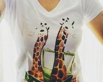 T-Shirt giraffe L