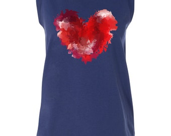 Abstract Heart Capped Tee