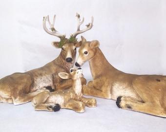 Deer Buck Family (Set of 3)