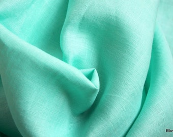 Cool  jade Irish linen
