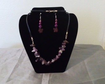 Necklace living lilac