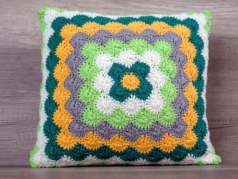 Вязание крючком декоративная подушка