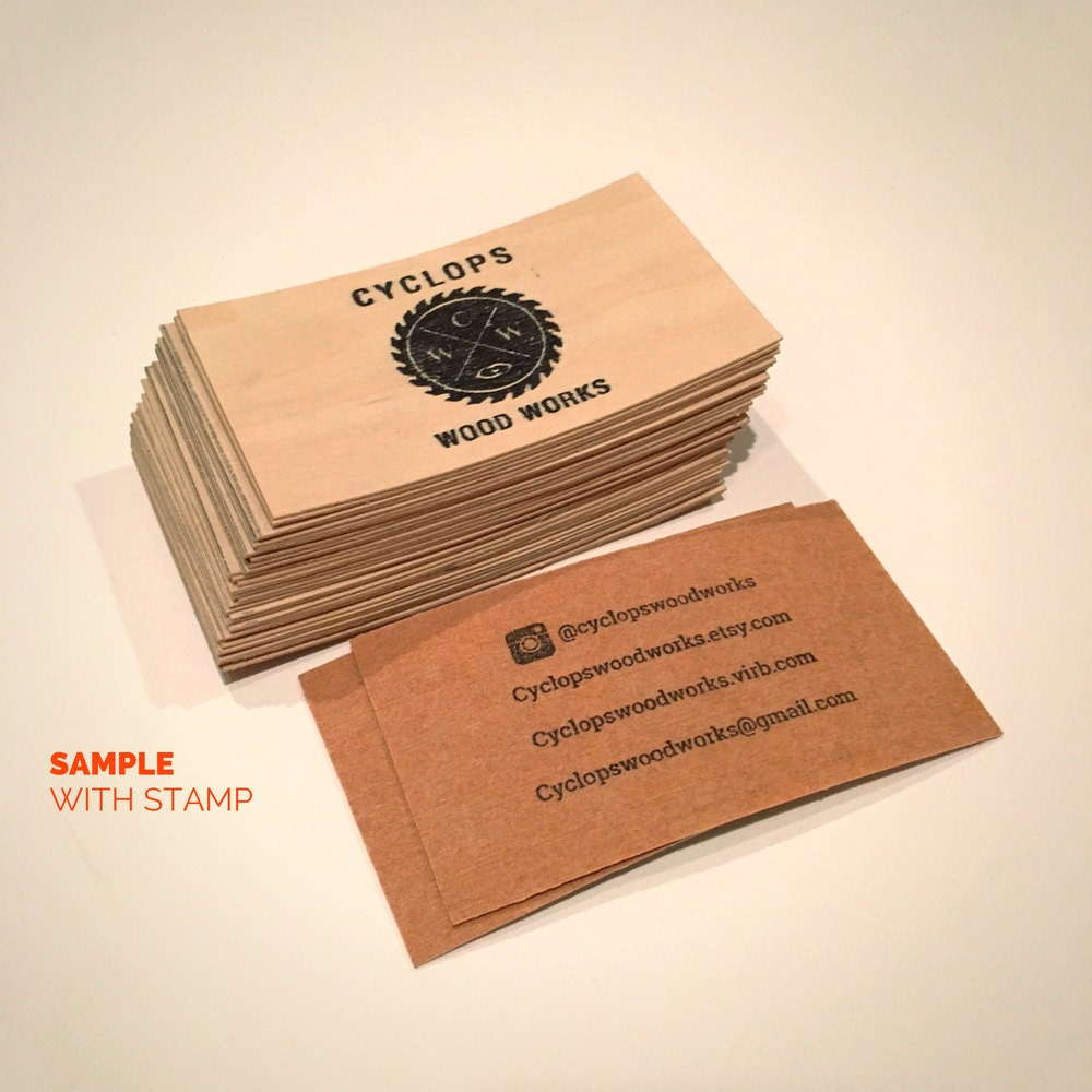 Blank wood cards set of 25 wood business cards wood tags 1750 reheart Images