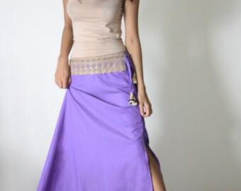 UMe Long Purple Skirt