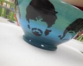 Wheel thrown Beatles bowl