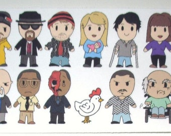 I Am the One Who Knocks - Character Stickers