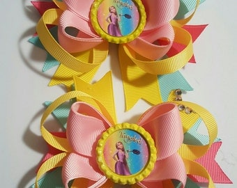 Tangled Girls Hair Bows set of 2