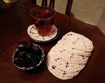 Crochet coasters (6)