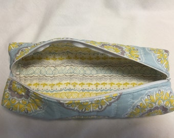 Quilted Zippered Pencil Case