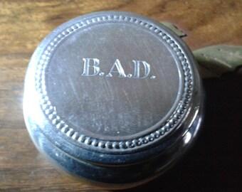 Solid silver pill box