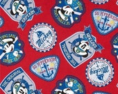 Captain Mickey Mouse Badges Fabric from Disney for Springs Creative
