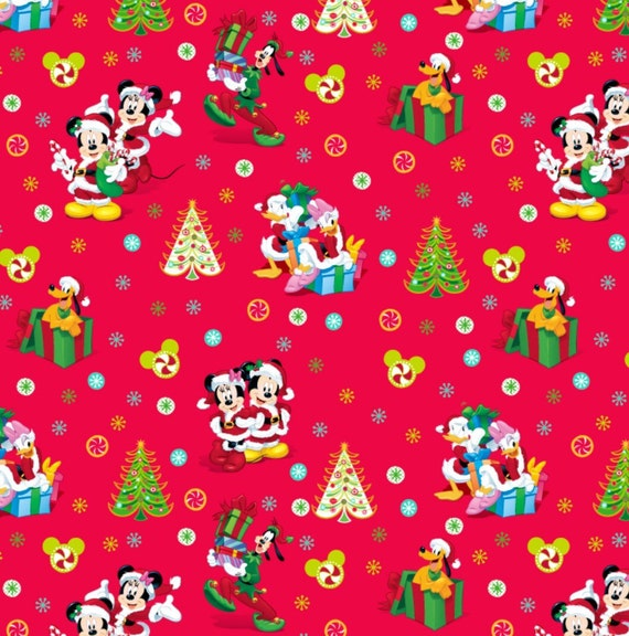 Disney Mickey And Friends Christmas Cotton Fabric From Disney