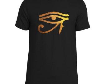 Eye of Heru, Ankh, Third Eye, Horus, Egyptian, African Clothing, Man Heru Shirt, Revolutionary