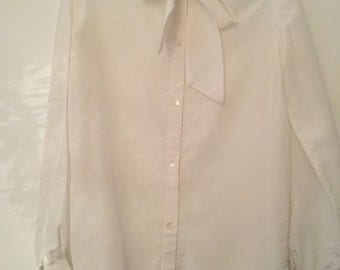 Handmade 1970's winter white shirt.