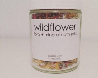 wildflower + mineral bath salts
