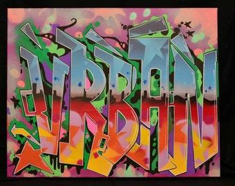"Graffiti deep edged Canvas ""Old School"""" Range,Urban Style."