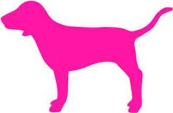VS pink DOG SVG - photo#8