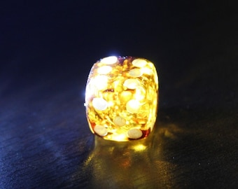 Baltic Amber Handmade Lucky Game Die Dice Transparent Yellow Color Souvenir