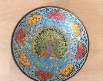 Cloisonne brass Indian Bowl
