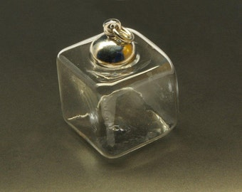 1 hollow bead cube bead with closure Ø15 mm