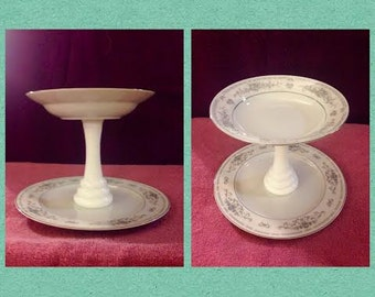 Cake Stand or Dessert Tray Two Tiers