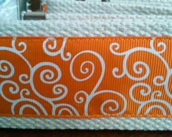 Swirls on Orange