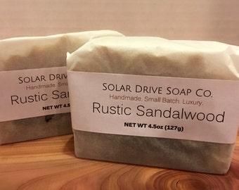 Rustic Sandalwood Handmade Soap