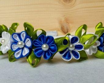 Handmade kanzashi hair bow