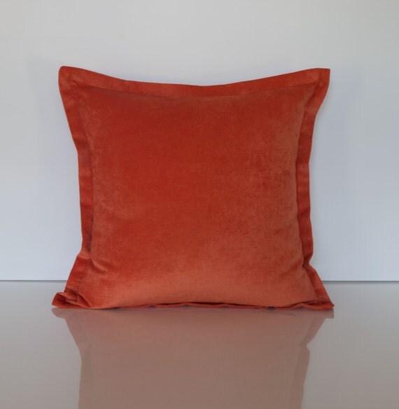 Orange Velvet Throw Pillows : Orange Velvet Throw Pillow Cover Solid Throw Pillow Cover