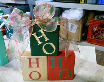 Wooden Christmas blocks
